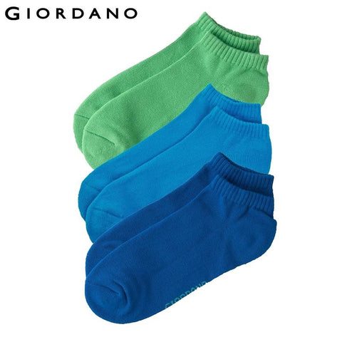 Giordano Men Brand Cotton Mens Ankle Socks Meias Masculinas Calcetines Hombre Sport Free Size High Quality (3-Pack)