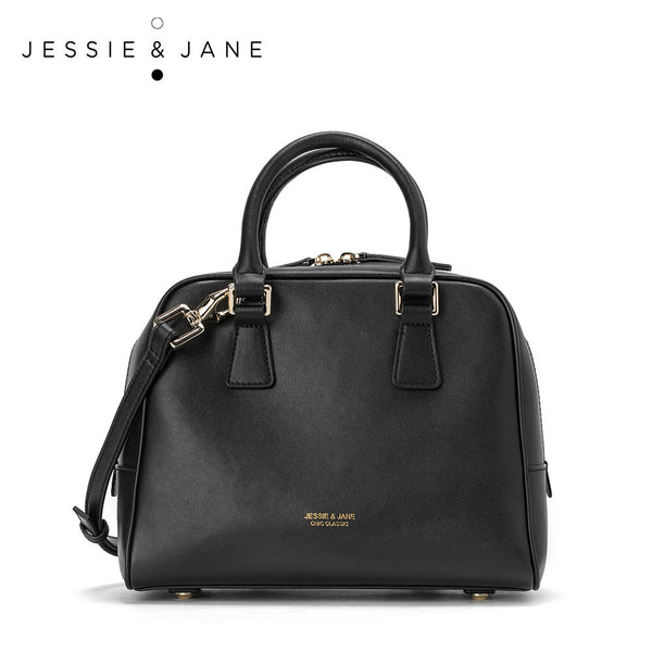 JessieJane Designer Brand Women handbags Houndstooth/Genuine Leather Top-handle Bags Jessie Style 1219