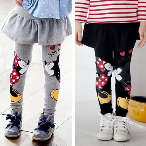 Girls Leggings Winter 2015 New Thick Velvet Children Leggings Girls Pants Character Baby Girls Dress Leggings Kids Pantskirt