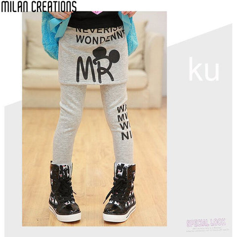 Kids Leggings for Girls Pants Fan Print 2015 New Brand Girl Legging Jeans for Children Pants Girls Leggings Designer 2-12Yrs