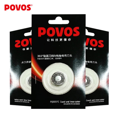 $8.99 ONLY 5.6 SALE !!! POVOS Electric Shaver Orginal Superior Replacement Blade Razor Blade Head for Men 3 Pcs PQ0097C