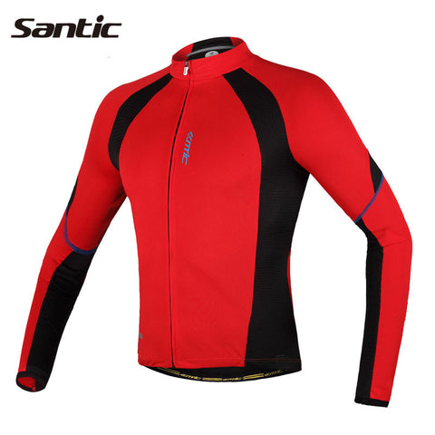 2015 Cycling Jersey Red Long Sleeve Jacket Men Shirts Casual Coat  Bike Jersey Mens Sports Winter Breathable Jerseys C01012R