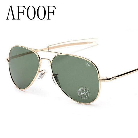 AFOOF  Vintage Classic AO Glass Sunglasses Brand Designer Fashion Summer Women Men Sun glasses Eyewear Oculos de sol