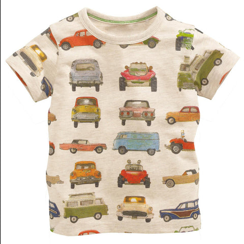 Boys Designer Kids Brand T Shirts 2016 Spring Boys T Shirt Kids Clothes Long Sleeve Boys Shirts Car-Styling Cotton Boys Clothes