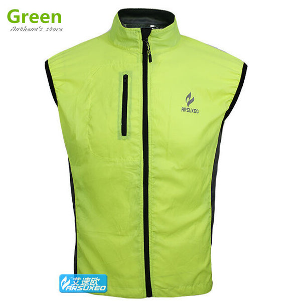 Ultra thin cycling running vest sleeveless sports waterproof breathable mesh fabric quick drying perspiration reflective LOGO
