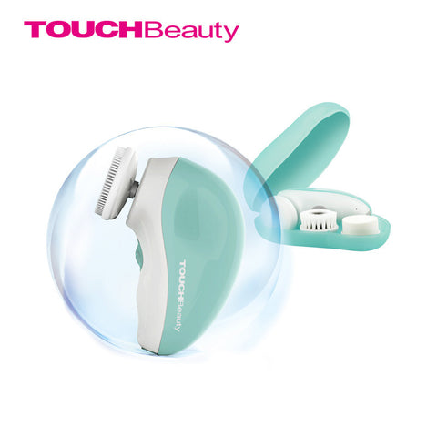 AS-1387 electric facial cleanser 360' dual-toward rotary smart cleaning with a patent droplet-shaped box rechargeable cleanser