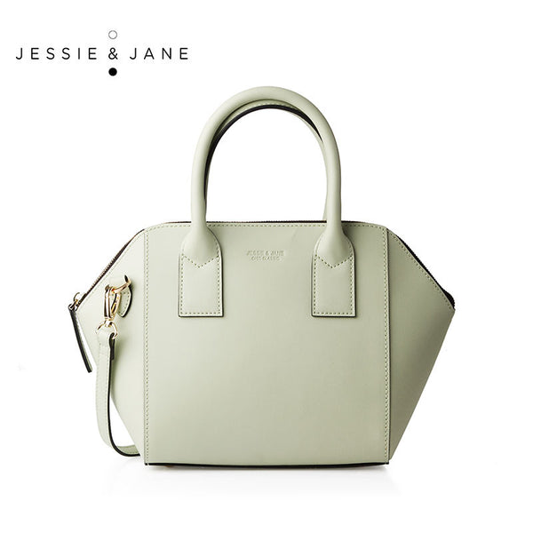 JESSIE&JANE Designer Brand 2016 New Montreal Series Pannelled Stylish Women Leather Shoulder Bags 1317
