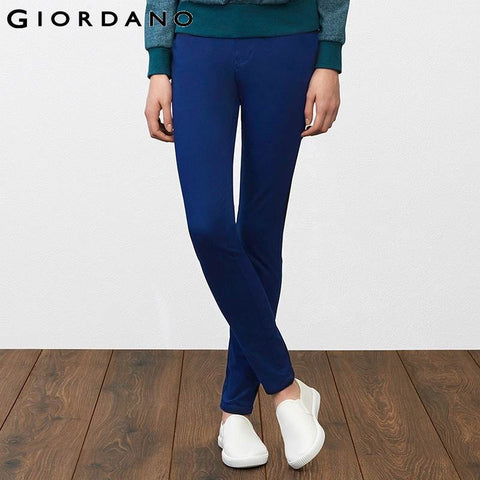 Giordano Women Casual Stretchy Pants for Women New Arrivals Female Solid Slim Trousers Pantalones Mujer Calca Feminina