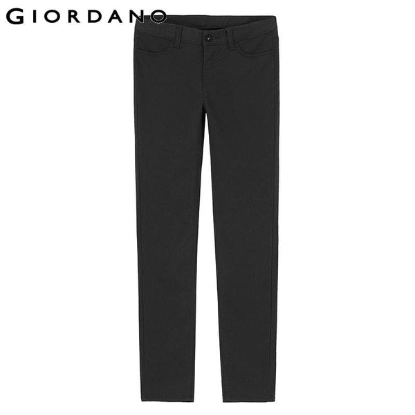 Giordano Women Brand Slim Cropped Pants Strechy Solid Casual Trousers Female Soft Cotton Dot Print Womens Pants Pantalon Mujer