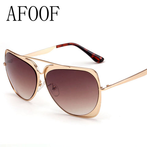 AFOOF 2016 Fashion Sunglasses Brand Design Metal Women Coating Sun Glasses Men Summer Style Goggle UV400 Unisex Vintage Oculos