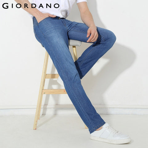 Giordano Men Jeans Summer Denim Pants Male Cotton Denim Jeans Mens Marcas Denims Homme Brand Fashion Slim Vetement Famosa Bottom