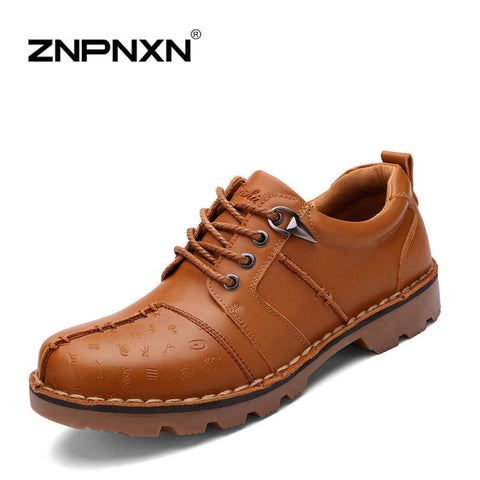 Best quality Genuine Leather shoes men flat shoes Soft and Breathable men Loafers Comfortable Minimalist design flat shoes