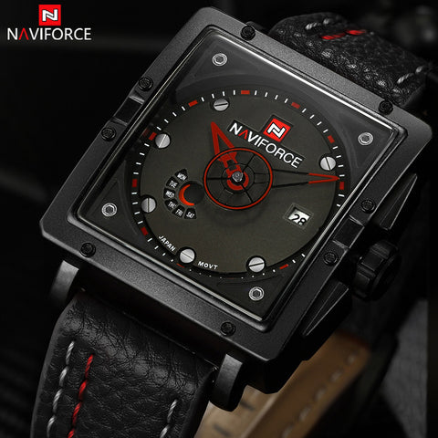 2016 New NAVIFORCE Luxury Brand Men Sports Watches Men's Quartz Analog Date Clock Man Army Casual Leather Wrist Watch Relogios