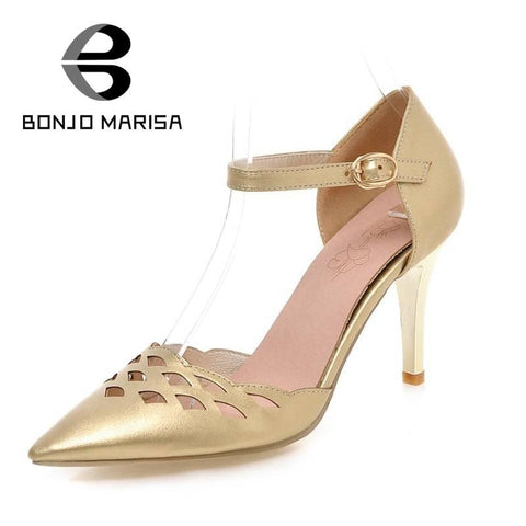 2016 cut outs Ankle Buckel Straps Pointed Toe Sexy Women Gladiator Spike High Heels Party Wedding Shoes Less Platform Sandals