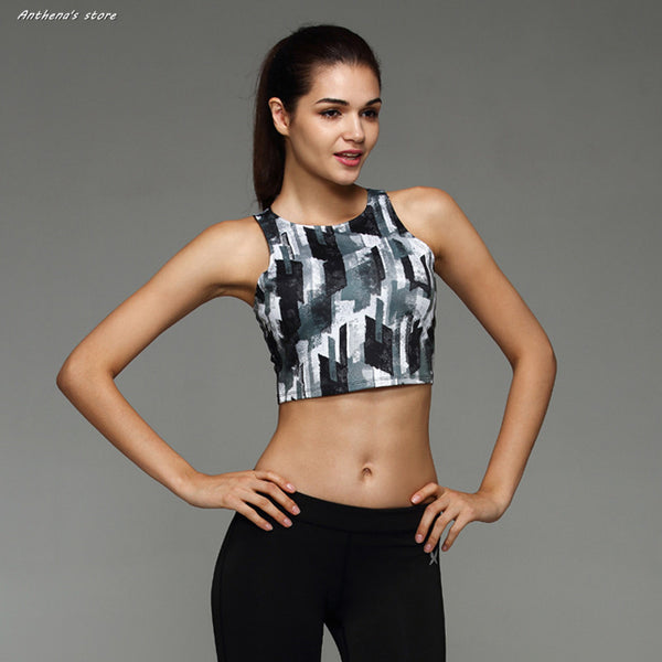 2016 Women Multi Body Building Sports Camisole Crop Top Tees Strapless Cat Gym Fitness Tank Top/Vest Halter Running Yoga Open