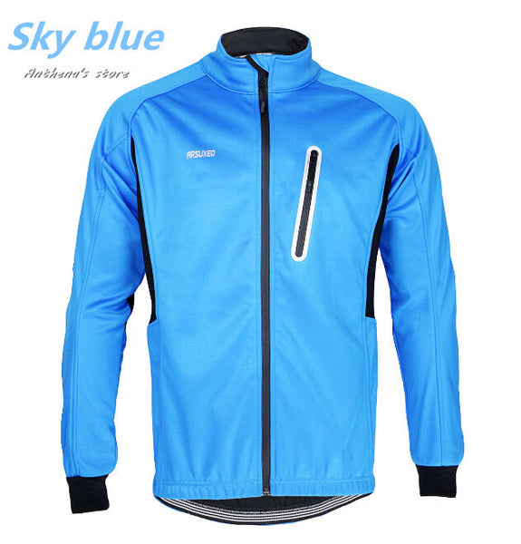 winter cycling running zip fleece thermal long sleeve coat jacket outdoor sports fitness equipment elastic breathable AR13003