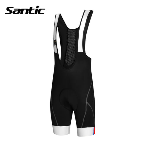 2015 Best Quality Santic Men's 3D Coolmax Padded Braces Pants S-3XL Free Shipping Cycling Bicycle Bike Bib Shorts Pants C05031