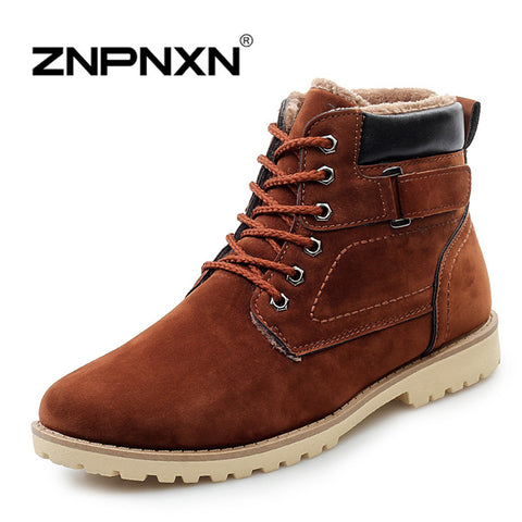 ZNPNXN 2015 fashion winter shoes women's winter suede boots for men ladies snow boot botines mujer chaussure femme