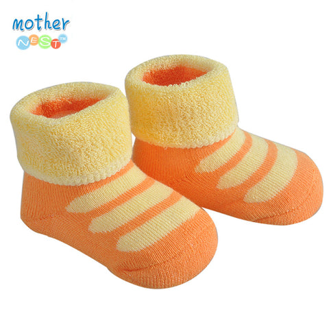 1 Pairs Baby Cotton Socks Newborn with Rubber Soles Anti-slip Walking Sock  Baby Cartoon Sock Thick Warm Animal Terry Baby Socks