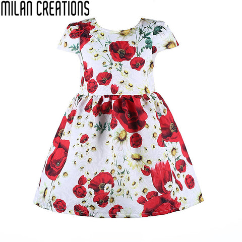 Baby Girls Dress Children Dresses A Line with Animal Digital Print Sleeveless Girl Dress 2015 New Brand Kids Dresses for Girls