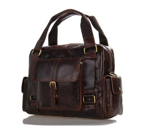 100% Genuine leather men bags New head layer Cowhide leather casual bag Vintage handbags men messenger bags tote handbag 7206CC