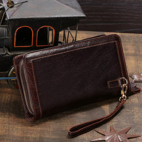 2014 100% Genuine Leather Men days Clutches Bags Cowhide Leather Handbags Men's Leather Wallets Card Holder vintage bags # 8023C