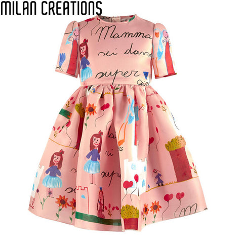 Brand Baby Girl Clothes Girls Dresses Summer 2015  A Line Floral Kids Dresses for Girls European Summer Style  Baby Girls Dress
