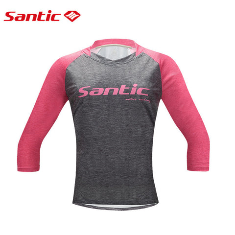 Santic Women Cycling Jerseys Breathable MTB Road Bicycle Bike Tops Shirt Clothing Maillot Ropa Mujer Bicicleta Ciclismo