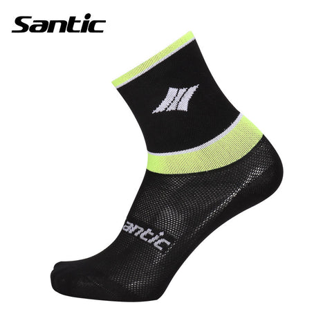 2016 Santic Pro fit Cycling Socks Bike Riding MTB Socks Men Breathable Comfortable Running Socks Calcetines Ciclismo 5C09042V