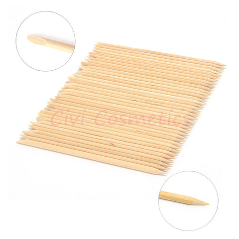 5 set/lot Free shipping! 100X Nail Art Orange Wood Stick Cuticle Pusher Remover