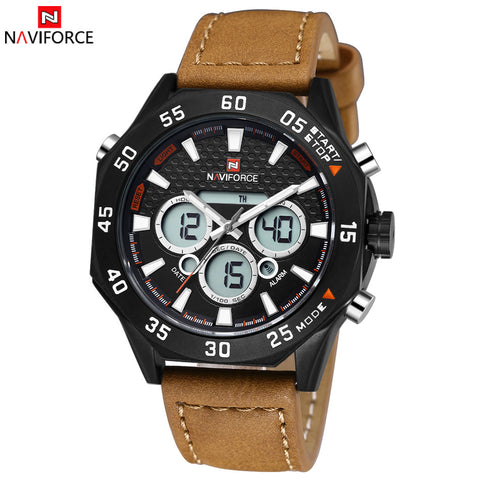 2015 Mens Watches Top Brand Luxury NAVIFORCE Men's Quartz Digital LED Watch Men Sports Watches relogios masculinos reloj hombre
