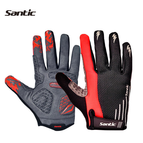1 Pair Santic Winter Men's Cycling Gloves MTB Gloves Motocross Games Motorcycle Bike Cycling Bicycle Full Finger Gloves C09013H