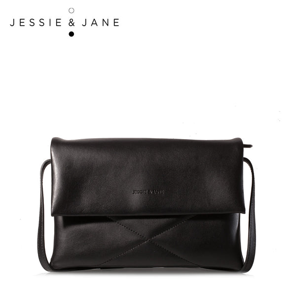 JessieJane Designer Brand Women Messenger bags Elegant PU & Genuine Leather Shoulder bags Jane Style 1068