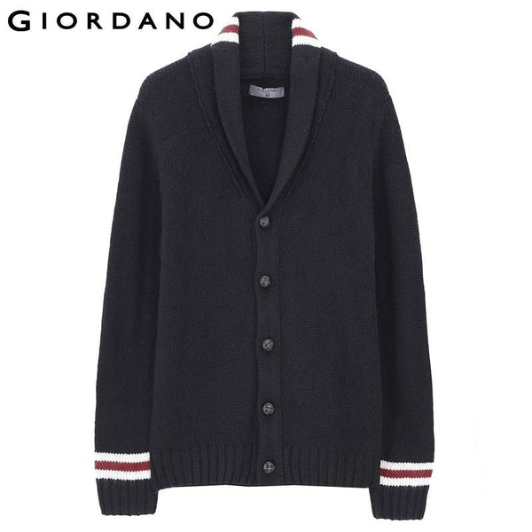 Giordano Men Shawlneck Cardigan Brand Button Solid Casual Slim Cardigans Men Warm Winter Sweaters Jersey Hombre
