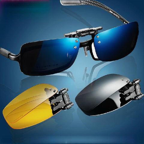 2014 New Roodoon 2202 Brand Polarized Men's Sunglasses Sports Coating Myopia Clip Sun Glasses Driving Glass Night Vision Clip