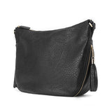 JESSIE&JANE Women 2016 Fashion Casual Messenger Shoulder PU Leather Bag Black