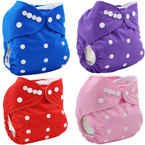 Washable Reusable Baby Diapers Cloth Pocket Nappy Diaper Cover Wrap Disposable Baby Diaper Double-breasted Baby Nappies Changing