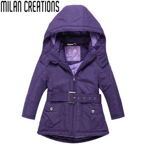 2013 top quality Girls down coat rhinestone ,thick girls feather coat children coat With A big Bow design Children Outerwear