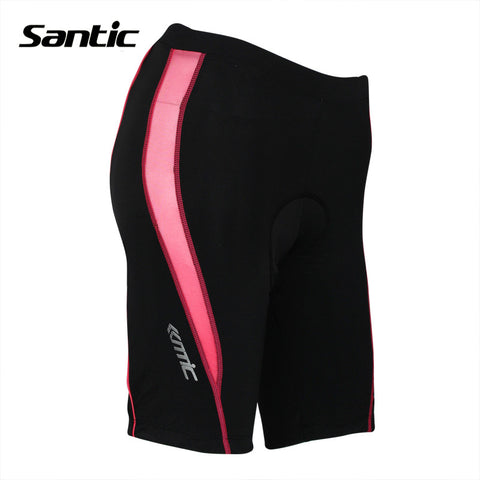 Women Santic Anti Pilling 3D Padded Bike Shorts ropa ciclismo hombre verano Black Bicycle Sportswear Clothing Tights LC05039R