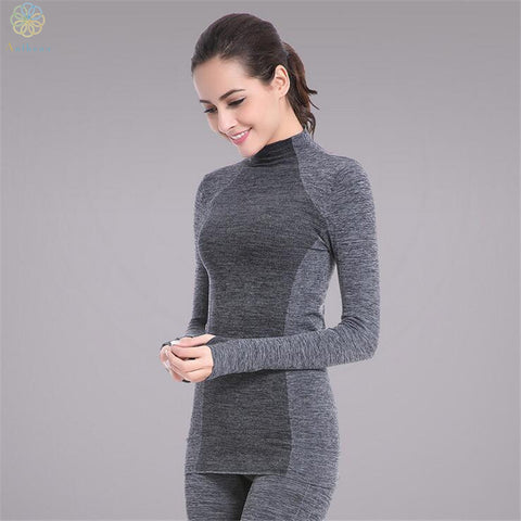 2016 Anthena Women Long Sleeve Gray/Blue Sports Tops Tees Yoga Fitness Running Gym Body Slim T-Shirt Cat Active Sweatshirt