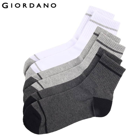 Giordano Men Socks Ribbed Top Cotton Socks Sokken Chaussettes Pour Hommes Dress Sock for Man Famous Brand Meias Sports