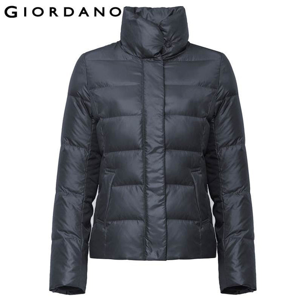 Giordano Women Down Jacket Womens Puffer Jacket 80% Down Outerwear Warm Winter Clothes for Woman Manteau Femme Chaquetas Mujer