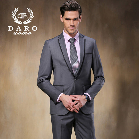2015 DR Suit New Men Suits Slim Custom Fit Tuxedo Gray suit and Pants Brand Fashion Business Dress Wedding Suits Blazer DR8818-3