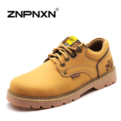 2015 Autumn Men Ankle Boots Genuine Leather Mens Boots Casual Lace Up Brand Designer Work Men Boots Winter Shoes Man Znpnxn-08