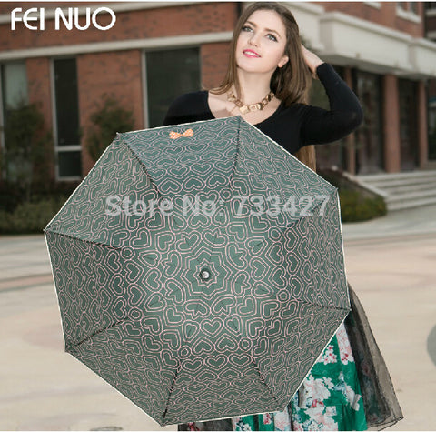 New Arrival High Quality Super Anti-uv Sun Protection Beach Umbrella Three-folding Sun & Rain Umbrella Parasol For Women
