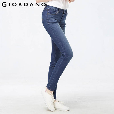 Giordano Women Classic Skinny Jeans Slim Female Denim Pants Quality Womens Denim Jeans Calca Jeans Feminina Vaqueros Mujer