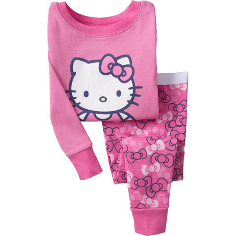 Baby Girls Clothes Designer Children Clothing Sets Sport Suit Hello Kitty Cotton Kids Clothes Sets Girls T-shirt+Pants 2-7 Years