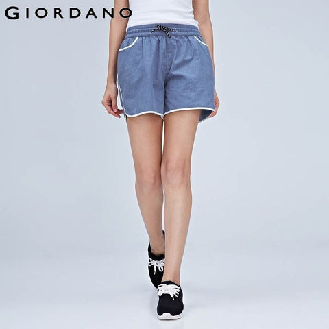 Giordano Women Shorts Sporty Shortpant Running Gym Clothing Summer Casual Ladies Shorts Pantalones Dames Beach Clothes