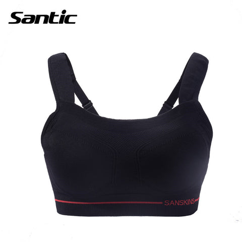 2016 Santic Full Cup Wire Free Seamless Women Sports Bra Padded Quick-dry  Cycling  Bra Breathable  Running  Riding Bra MN15008H