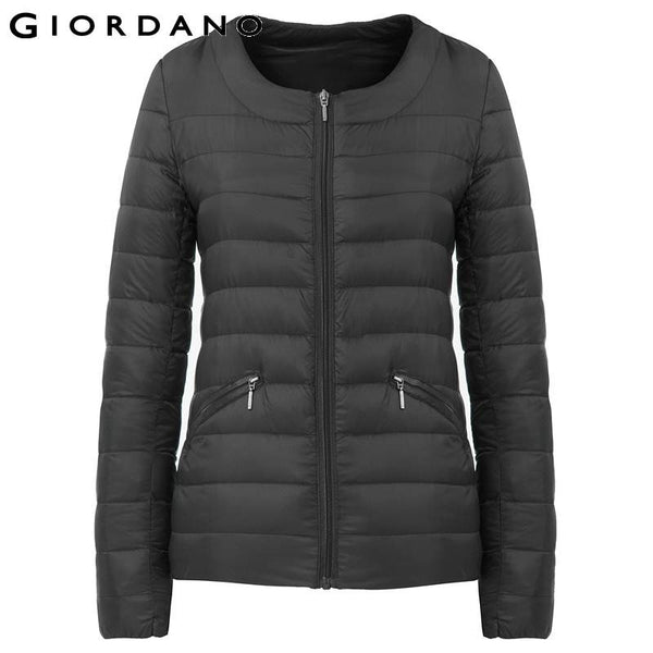 Giordano Women 98% Duck Down Jacket Water Repellent Coat O-Neck Puffer Jackets Woman Slim Fit Winter Ultralinght Downs